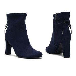 Sam Edelman Circus Janet booties navy blue boots